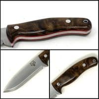 Mk II TBS Timberwolf Bushcraft Knife - DC4 & Firesteel Edition - Turkish Walnut